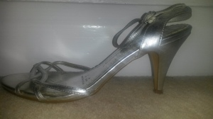 My stilettos, thin heel means more pressure.