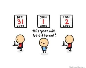 We've all been there... http://weknowmemes.com/tag/new-years-resolution-meme/
